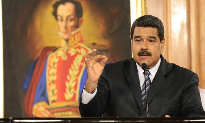 Venezuela's President Nicolas Maduro speaks during a meeting with businessmen in Caracas, Venezuela January 9, 2017. Miraflores Palace/Handout via REUTERS FOR EDITORIAL USE ONLY. NO RESALES. NO ARCHIVES